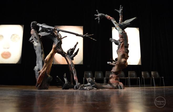 "Exposition ""Mosaïques"" 2017, sculptures de Hans Jorgensen."