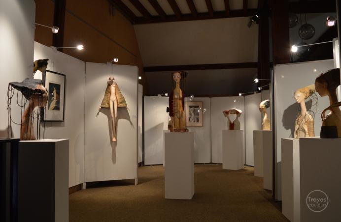"""Exposition """"Mosaïques"""" 2017, sculptures et gouaches de Daniel Chanson."""