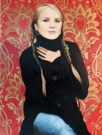 Portrait de Lorraine, . 89cm x 116cm - huile sur toile, 07 2015- 08 2015.