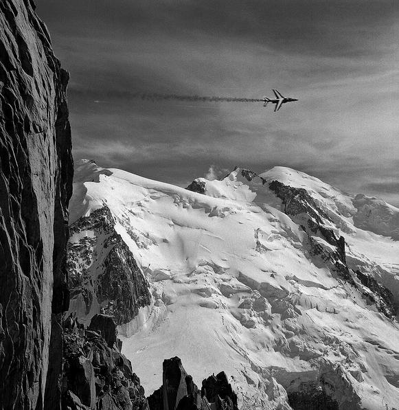 Alpha jet au Mont-Blanc, 2012.